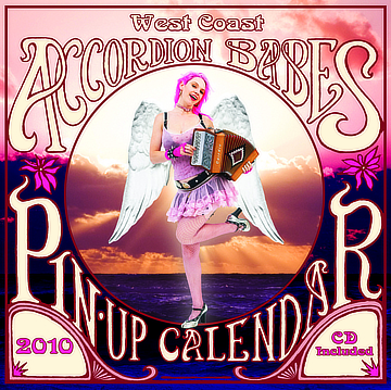 the 2010 accordion babes calendar cover