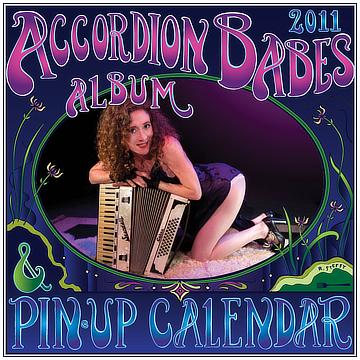 the 2013 accordion babes calendar cover