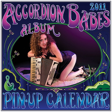 the 2013 accordion babes calendar cover